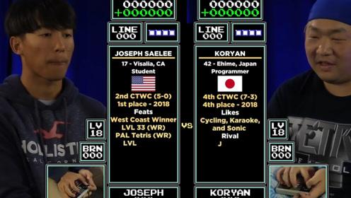 2019俄罗斯方块世界总决赛,美国17岁小伙,击败日本大叔获得冠军