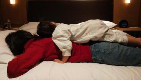 朱丹高强度工作后收获女儿按摩:有你 妈妈扛得住