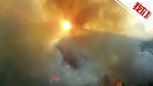 福建三明发生山火:持续燃烧八九个小时 多个山头沦为火海