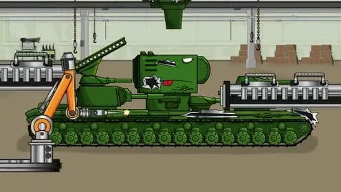 坦克动画:改头换面的绿巨坦厉害了!