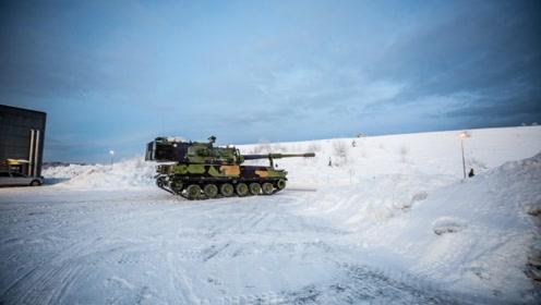 """谁说""""韩国车""""不行?挪威购买的K9火炮雪地里跑得欢"""