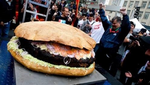"""吃一个""""大汉堡""""送一套别墅,吃不完照单全买,网友:差点赔了!"""