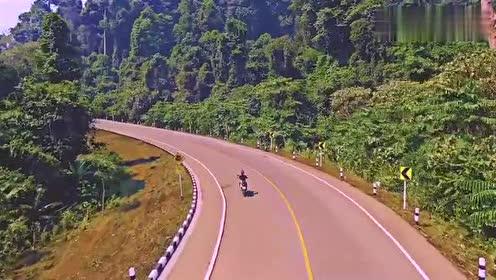 骑行记:路边牌子提示注意大象,所以骑的很慢,生怕把它们撞倒了
