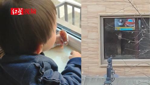3岁女儿趴窗台1小时没动 爸爸走近后哭笑不得
