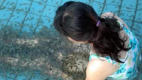 美女享受鱼疗,结果太舒服没忍住做了这事,小鱼瞬间翻了肚皮
