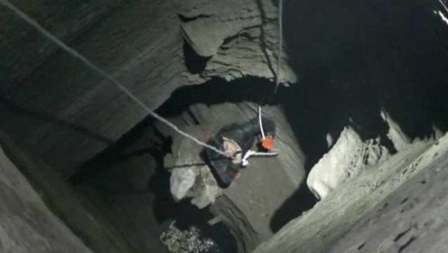 为捡手机?男子下60米深井被困4小时,被救后:差点死在井里