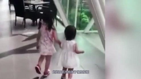 10多米天桥破洞踩空, 1岁女童坠亡,监控拍下惊悚瞬间!