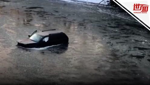 男子驾车掉进冰河中 关键时刻Siri救命