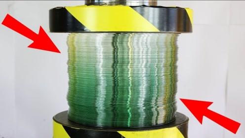 500吨液压机,能把100张CD碟片压成一张厚度吗?别眨眼眼见为实!