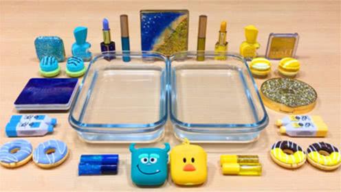 DIY史莱姆教程,小鸭彩泥+口红指甲油,手感超棒呢
