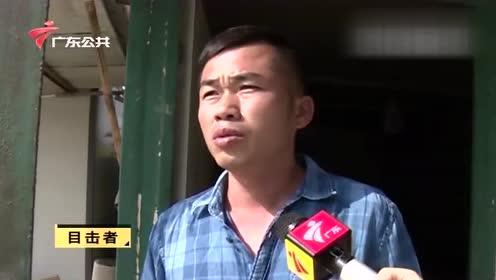 广州:钟落潭一工厂起火 厂房浓烟滚滚