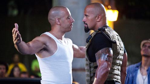 好莱坞2大光头硬汉,巨石强森PK范迪塞尔,到底谁更强?