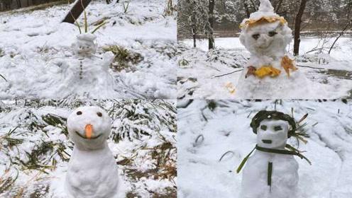 """雪后颐和园乐趣多!花式堆雪人""""大赛""""开赛:找回童年乐趣"""