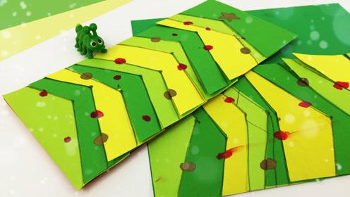 圣诞树里的小秘密圣诞节贺卡 和设计师妈妈一起儿童手工绘画美术