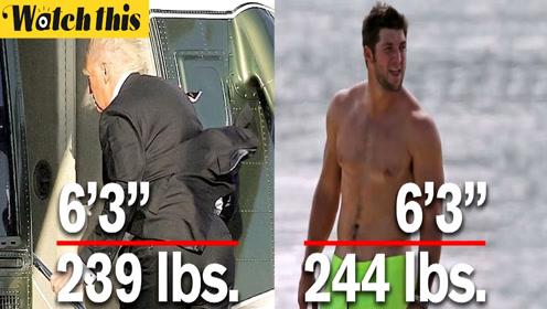 男子出10万美元要特朗普当众测体重 网友:天天汉堡可乐怎能不胖?