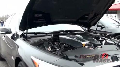 当3.0双涡轮增压的Q50s和BMW 335i遇上思域