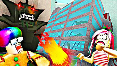 屌德斯解说 Roblox灾难模拟器 第一人称直面大怪兽的袭击