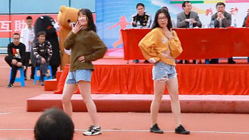 高中女生热舞C哩C哩一跳成名 台下的男同学都疯狂了