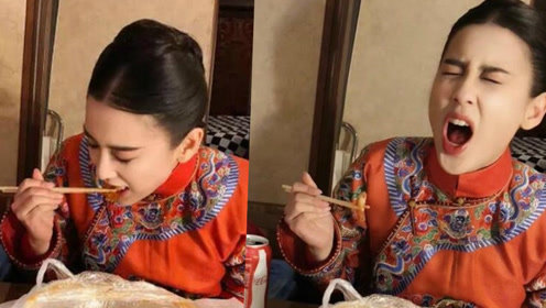 黄圣依吃香辣蟹辣成表情包 老公视角下面部扭曲颜