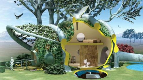 """那些造型怪异,从植物中""""长""""出来的建筑物"""