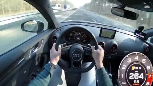 速度表比我们转速表还快!奥迪RS7 vs RS3 加速对比