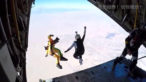与金字塔擦肩而过!跳伞运动员展示别样开罗景象