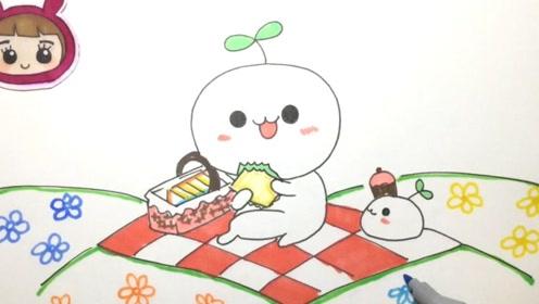可乐姐姐学画画-长草颜团子去野餐