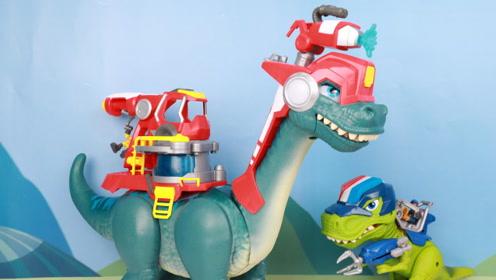 恐龙救援队超级火焰龙巨大声光恐龙玩具