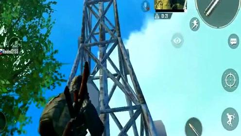 刺激战场:全图最高点能打到地图所有位置,比15倍镜视野还好!