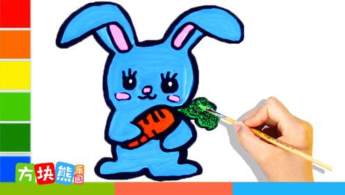 方块熊简笔画 第11集 小兔子