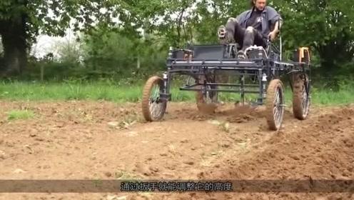 国外大叔发明自动耕地机,成本不到500元,一天能耕3亩地