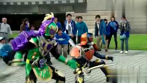 假面骑士:铠武第一次用西瓜铠甲,全场都以为提前大结局了!