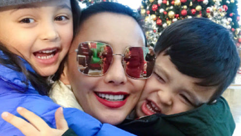 吴奇隆前妻马雅舒晒一家三口合照温馨甜蜜 混血儿女十分好看