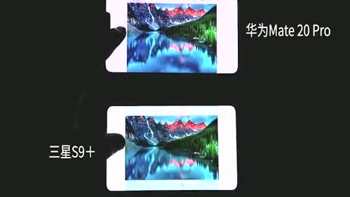 华为Mate20Pro屏幕对比三星S9P,这差距确实有点大!