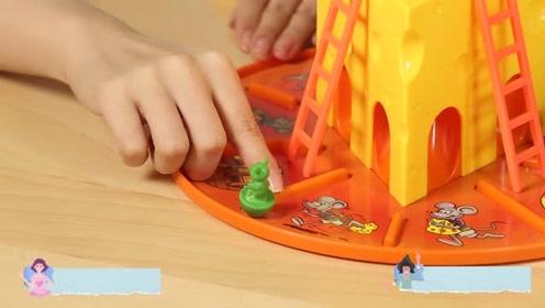 《猫扎特玩具》老鼠芝士蛋糕桌游,躲猫猫赢奶酪!
