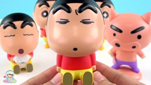 《玩具益趣园》蜡笔小新人偶扭蛋,表情好有趣