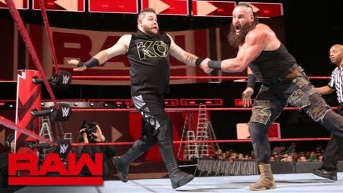 "WWE黑羊再次出狠招,多次将欧文斯撞飞,简直就是""车祸现场""!"