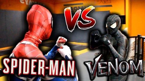 蜘蛛侠 VS 死侍,真人版,别的不说,两个小伙子的体术很棒啊