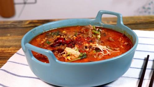 水煮肉片这个做法,才哩够味,配上米饭,简直让人流口水