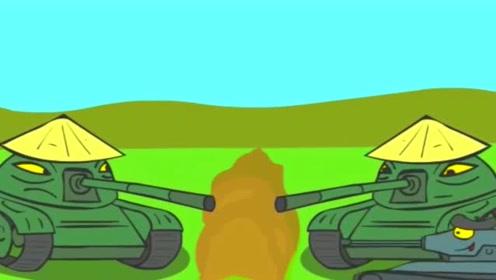 坦克世界搞笑动画:不怕神一样的对手,就怕猪一样的队友