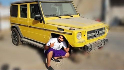 小伙去逛废车场,无意间发现一辆奔驰G,走上前一看大吃一惊!