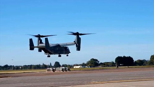 空军基地:美国空军特种操作CV-22练习悬停机动