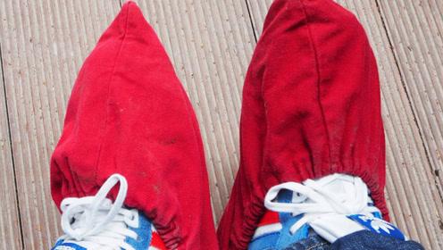 老外发明创意鞋套,脚一踩就包住,忍不住家里也买了几双