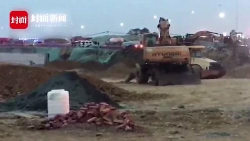 双流一在建工地发生钢筋倾倒事故