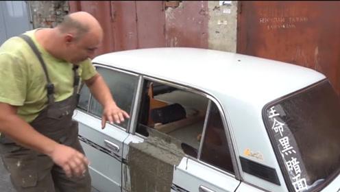 老外把5吨混凝土装满汽车,还能开吗?一起来见识下!