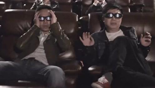 屌丝男士:男子得知3D电影很真实后,他慢慢把自己投入到电影里面去