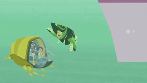 新动物兄弟:阿维娃的潜水艇慢慢靠近多尼塔,寻找机会解救马丁