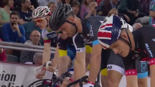 国际自行车慢骑比赛,比谁慢,1米远他能骑一天