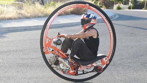 独轮闯天下,两位小伙制造独轮摩托车,这是要骑着它环球旅行吗?