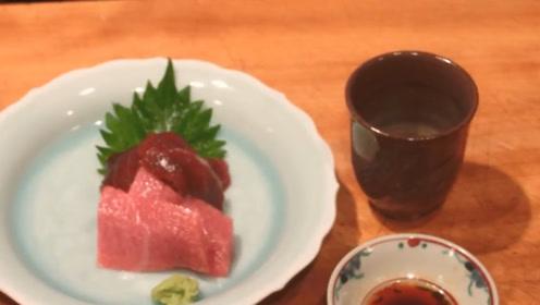 新鲜的大鱼肉,直接做成刺身食用,满嘴的生肉味儿